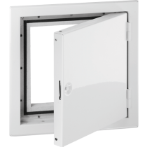 Revisionstür 250x200 mm verchromt  -mit Lüftungsschlitzen-