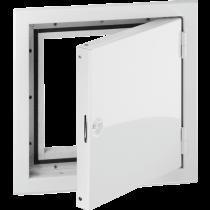 Revisionstür 150x150 mm verchromt  -mit Lüftungsschlitzen-