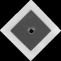 """PROFI -  Wandmanschette """"Dichtband"""" 120x120 mm (grau) mit 12 mm mit Loch"""