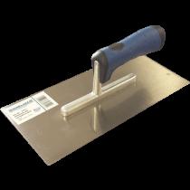 Glättekelle mit Softline-Griff - ohne Zahnung Edelstahl - 28 x 13 cm