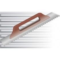 Aufziehglätter mit Holzgriff - 12 mm Zahnung, eckig Stahl - 48 x 13 cm