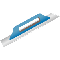 Aufziehglätter mit Holzgriff - ohne Zahnung Stahl - 48 x 13 cm