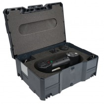 Systemkoffer mit passgenauer Hartschaumeinlage für Akku - Saugheber mit Manometer
