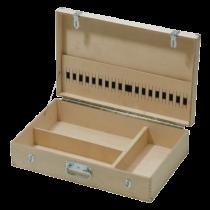 Werkzeugkoffer - Holz mit Einteilung OHNE INHALT - 650 x 410 x 170 mm
