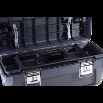 Werkzeugkoffer - Kunststoff mit Aluminium-Bügelgriff OHNE INHALT - 650 x 275 x 265 mm