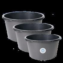Mörtel-Kübel 65 Liter - mit Kreuzboden -