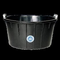 Spezial-Kübel 90 Liter schwarz, oval - Metallgriffe