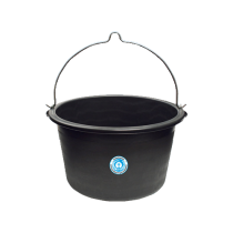 Bau-Eimer - 20 Liter aus Kunststoff - schwarz