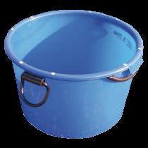 Mörtel-Kübel 90 Liter, BLAU kranbar, mit umlaufendem Rohrrahmen
