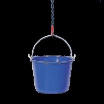 Bau-Eimer 12 Liter BLAU mit Bügel u. Kreuzboden