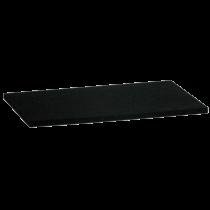 Ersatzauflage 14 x 28 cm Zellkautschuk schwarz