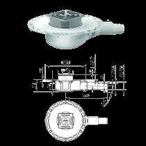 Bodenablauf RK 12 - DN 40/50 120x120 mm - waagerecht