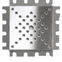 Kleberahmen Edelstahl 10 x 10 cm - Höhe 10 mm