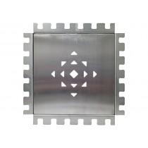 Kleberahmen Edelstahl 20 x 20 cm - Höhe 8 mm
