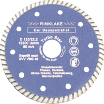Diamantscheibe Ø 125 mm Turbo-Star 1,2 mm Segmentierung