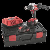 FLEX Akku Bohrschrauber mit Schnellladegerät, 3 Akkus 18 V u. Bitset