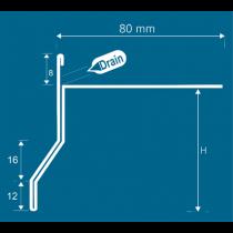 Aluminium-Randschutz f. Steinteppiche bis 8 mm RRFTA-D 90/8 HG à 2,50 m - hellgrau
