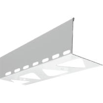 Aluminium-Randschutz mit Drainage RRLA-D 75 HG à 2,50 m - hellgrau