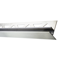 Edelstahl-Duschprofil mit Glasaufnahme FE-DP/G98-19-12-L Höhe: 34 mm