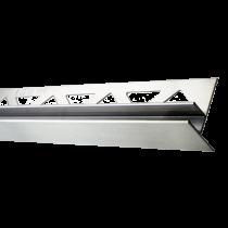 Edelstahl-Duschprofil mit Glasaufnahme RECHTS FE-DP/G 98-19-12-R - Höhe: 34 mm