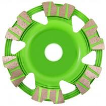Premium Schleifteller RB 125 mm - zum Schleifen von Beton und Estrich vibrationsarm -