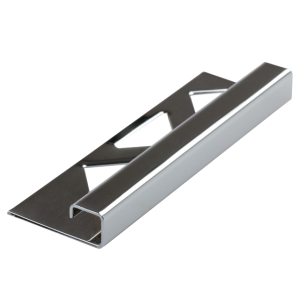 Edelstahl-Fliesenschiene - quadratisch FEQ-S 80 à  2,50 m  >>V4A