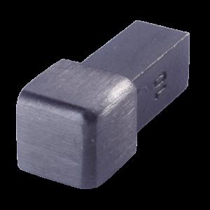 Außenecke FEQ-S 90 SG  - Style Volledelstahl  -  schwarz geb.