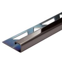 Edelstahl-Fliesenschiene - Style FEQ-S 90 SP à 2,70 m - schwarz glanz