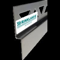 Edelstahl-Wandanschlußprofill mit Gefälle LINKS DPW 98-8-24 - 8 mm / 98 cm Länge