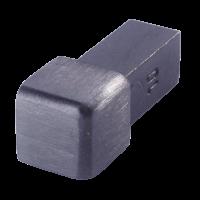 Außenecke FEQ-S 100 SG - Style Volledelstahl  -  schwarz geb.